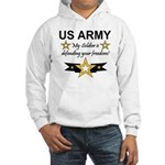 Army My Soldier is defending Hooded Sweatshirt