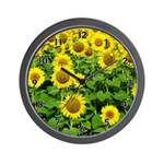 Sunflower Clocks in many different styles and sizes with beautiful sunflowers