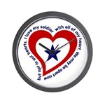 Heart Service Flag - Soldier Wall Clock