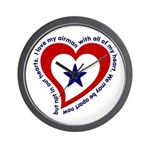 Heart service Flag - Airman Wall Clock