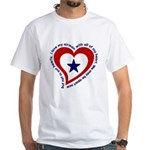 Heart service Flag - Airman White T-Shirt