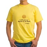 Elizabeth Beheading Quote Yellow T-Shirt