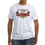 Airman Sandbox Air Force Fitted T-Shirt