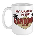 Airman Sandbox Air Force Large Mug