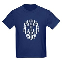 Chess Skull t-shirt Kids Dark T-Shirt