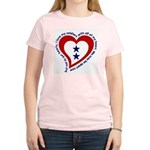 2 Star Service Flag - Soldiers Women's Pink T-Shir
