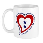 2 Star Service Flag - Soldiers Mug