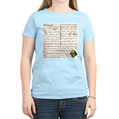 Shakespeare Insults T-shirts & Gifts Women's Light T-Shirt