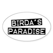 Birda's Paradise Oval Sticker