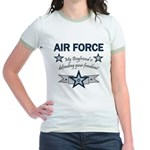 Air Force Boyfriend freedom Jr. Ringer T-Shirt