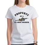 Property US Army Soldier Military Women's T-Shirt