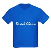 Script Barack Obama Kids Dark T-Shirt