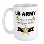 Son-in-law defending freedom Large Mug
