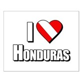  Scuba: I Love Honduras Small Poster