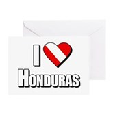  Scuba: I Love Honduras Greeting Card