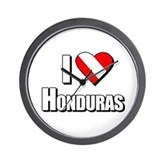  Scuba: I Love Honduras Wall Clock