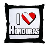Scuba: I Love Honduras Throw Pillow