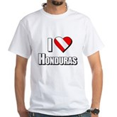 Scuba: I Love Honduras White T-Shirt