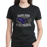 Have Fins Will Travel Women's Dark T-Shirt