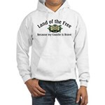 Land of the Free, Coastie Hooded Sweatshirt