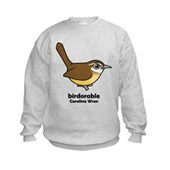 Birdorable Carolina Wren Kids Sweatshirt