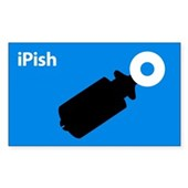  iPish (blue) Rectangle Sticker
