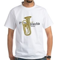 Baritone Music White T-Shirt