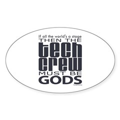 Tech Crew Gods  Sticker (Oval)
