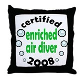 Enriched Air Diver 2008 Throw Pillow