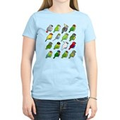 16 Birdorable Parrots Women's Light T-Shirt