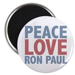 Peace Love Ron Paul 2.25&quot; Magnet (100 pack)