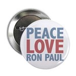 Peace Love Ron Paul 2.25&quot; Button