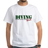Diving Slut White T-Shirt