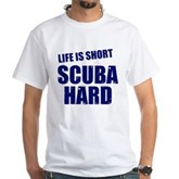 Scuba Hard White T-Shirt