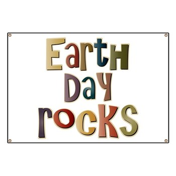 Earth Day Rocks Banner