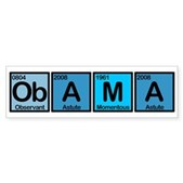 Obama Elements Bumper Sticker