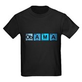 Obama Elements Kids Dark T-Shirt