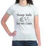 Sleep Safe Sleep with a Coastie Jr. Ringer T-Shirt
