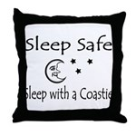 Sleep Safe Sleep with a Coastie Throw Pillow