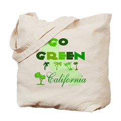 go green california tote bag