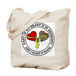 Part of my Heart is in Germany Tote Bag