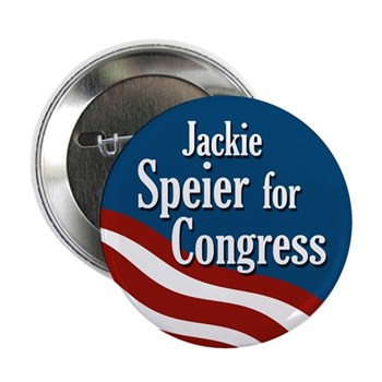 Jackie Speier is a solid voice of reason in Congress.  Re-Elect Speier to keep reason on Capitol Hill!  (Jackie Speier Button)