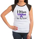 Violet Ribbon Friend Women's Cap Sleeve T-Shirt