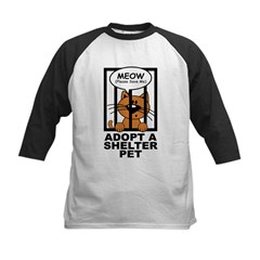 Meow (Save Me) Kids Baseball Jersey