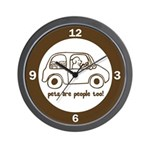 Pets Are People Too Wall Clock