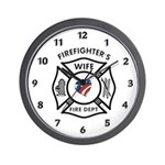 Fire Fighter Wife Wall Clock