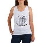 Beer: Now! Cheaper than Gas! Women's Tank Top