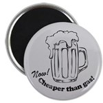 Beer: Now! Cheaper than Gas! Magnet