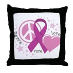 CF Peace Love Cure Throw Pillow