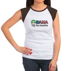 Obama 1up for America Women's Cap Sleeve T-Shirt